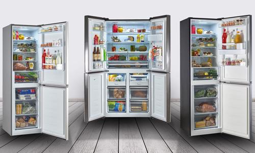 Refrigerator: Freestanding American Style Fridge Freezer